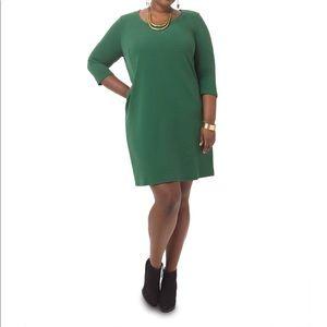Junarose 0x Shift Green Office Date Dress